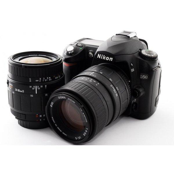 ニコン Nikon D50 標準&望遠ダブルレンズセット 美品 新品SDカード付き