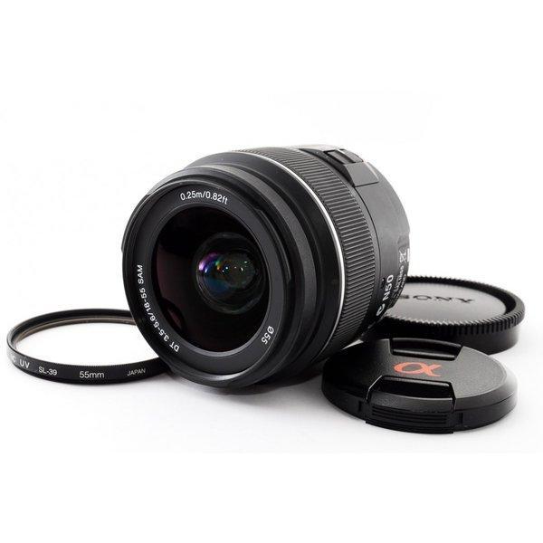 SONY DT 18-55mm SAM F3.5-5.6 SAL1855 ★極上美品★ソニーαマウント 望遠 ズーム 交換レンズ