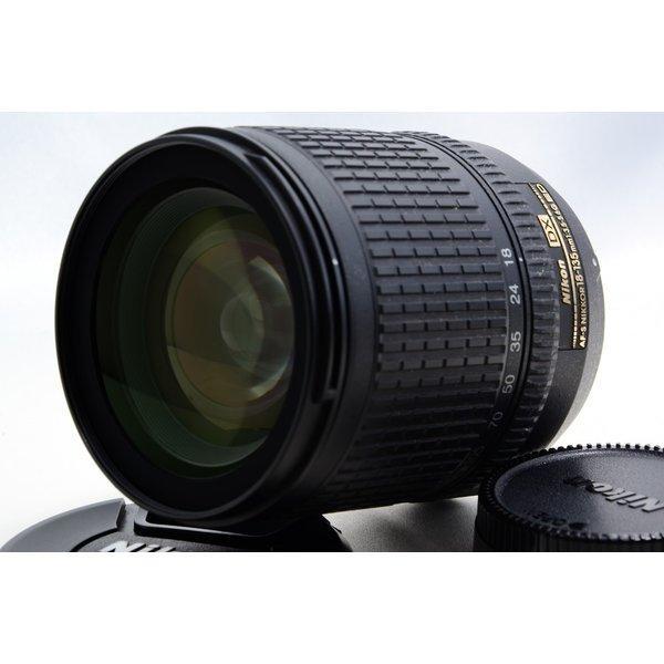 ニコン Nikon AF-S DX Zoom Nikkor ED 18-135mm F3.5-5.6 G 美品 AF-Sマウント 望遠 ズーム 交換レンズ 前後キャップ付き