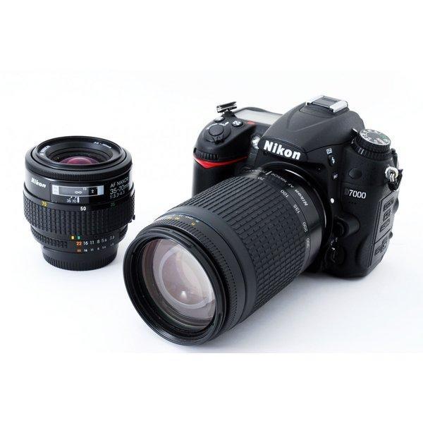 ニコン Nikon D7000 標準&超望遠ダブルズームセット 極上美品 8GB新品SDカード、ストラップ付き