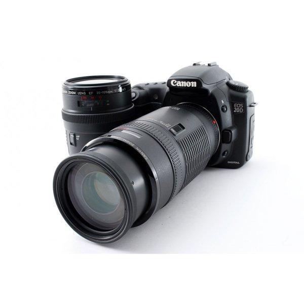 キヤノン Canon EOS 20D ダブルズームセット 極上美品 ストラップ付き