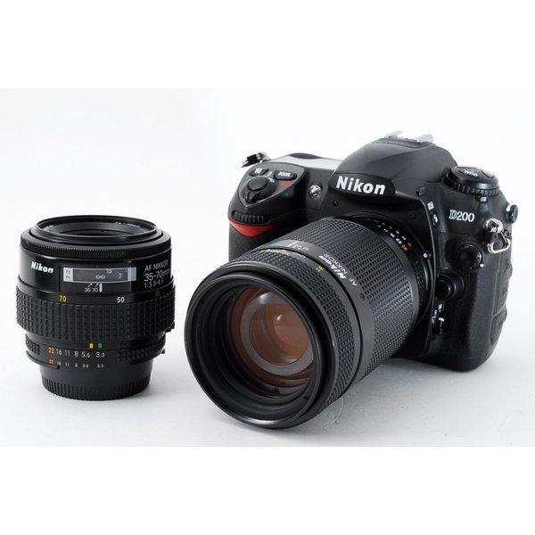 ニコン Nikon D200 標準&望遠ダブルズームセット 極上美品 ストラップ付き