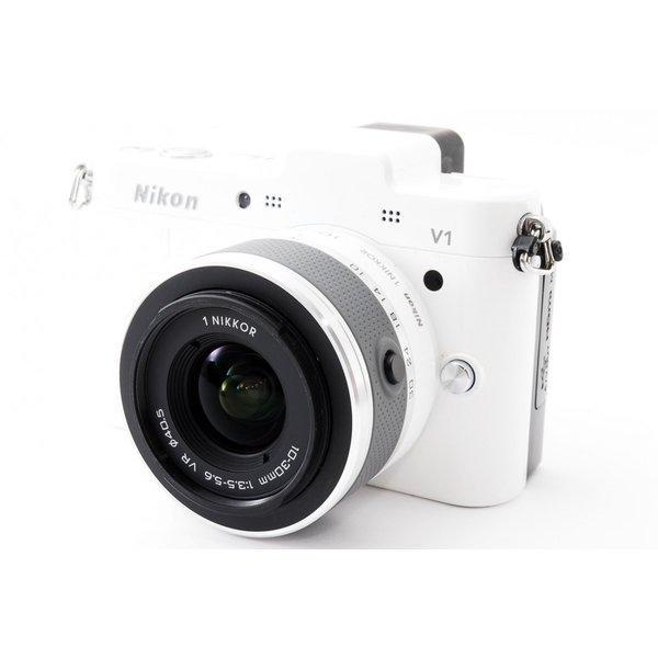 ニコン Nikon 1 V1 ホワイト レンズセット 極上美品 ミラーレス一眼始めるならこれ 8GB新品SDカード、ストラップ付き