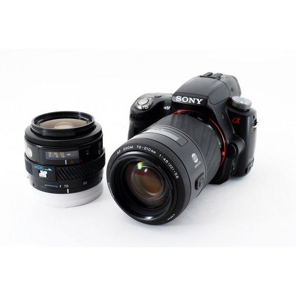 ソニー SONY α55 SLT-A55V ダブルズームセット 極上美品 レンズフード、新品8GB SDカード付き