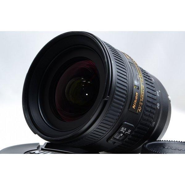 ニコン Nikon AF-S NIKKOR 18-35mm f/3.5-4.5 G 極上美品 AF-Sマウント 望遠 ズームレンズ 交換レンズ 前後キャップ付き
