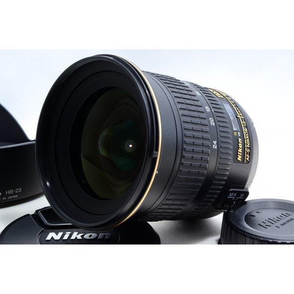 ニコン NIKON AF-S NIKKOR 12-24mm f/4 G ED DX 極上美品 AF-Sマウント 望遠 ズームレンズ 交換レンズ 前後キャップ付き