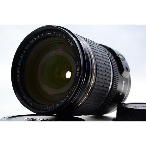 キヤノン Canon EF-S 17-55mm f/2.8 IS USM 極上美品 EFマウント 望遠 ズームレンズ 交換レンズ 前後キャップ付き