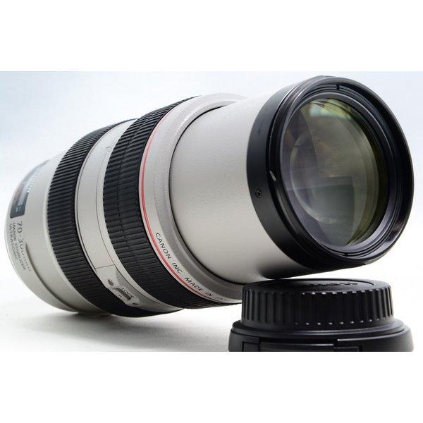 キヤノン CANON EF 70-300mm f/4-5.6 L IS USM 美品 防塵 防滴 望遠ズームレンズ 交換レンズ 前後キャップ付き