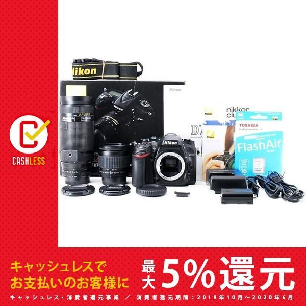 ニコン Nikon D7100 標準&超望遠ダブルズームセット 美品 スマホへ転送 新品SDカード、元箱付き [jkh]