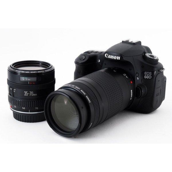Canon EOS 60D 超望遠ダブルズームセット★極上美品★元箱、新品8GB SDカード付き![jkh]
