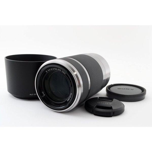 SONY SEL55210 E 55-210mm OSS F4.5-6.3 レンズ★極上美品★フード付き!ソニーEマウント 広角 望遠 ズーム 交換レンズ