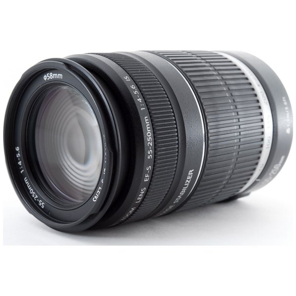 望遠レンズ 中古 Canon キャノン EF-S 55-250mm IS 手振れ補正 デジタル一眼レフカメラ 交換レンズ