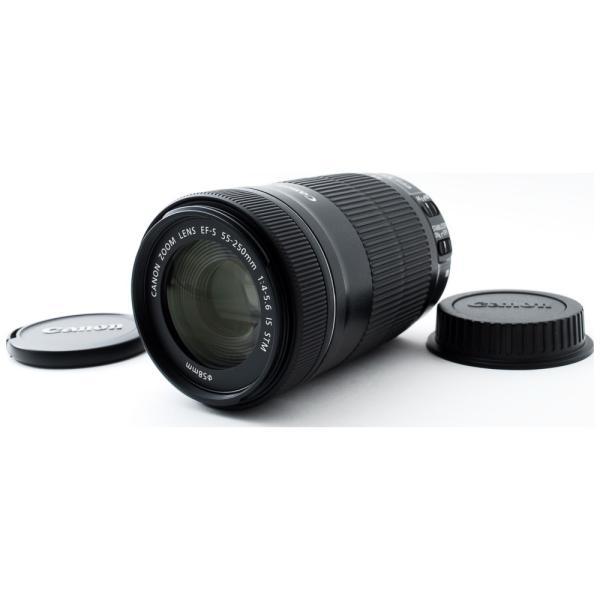 望遠レンズ Canon キャノン 中古 EF-S 55-250mm IS STM 手振れ補正 デジタル一眼レフ