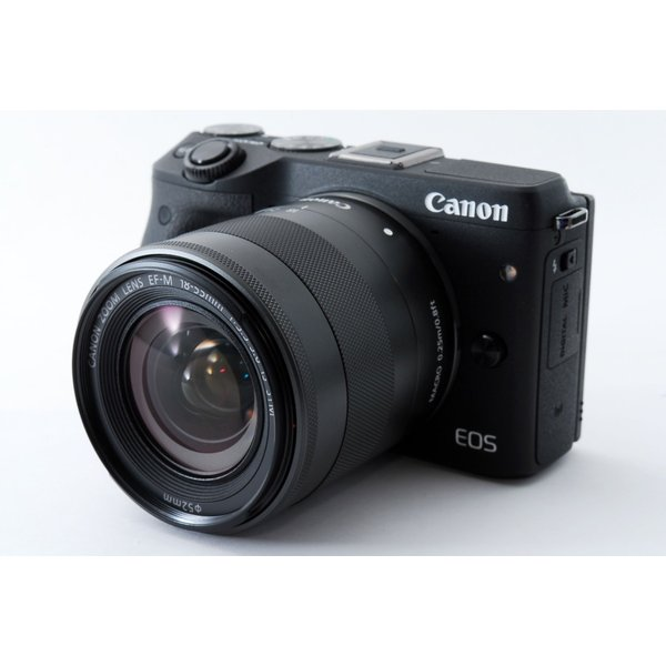 Canon キヤノン ミラーレス一眼 中古 Wi-Fi 自撮り EOS M3 ブラック レンズキット