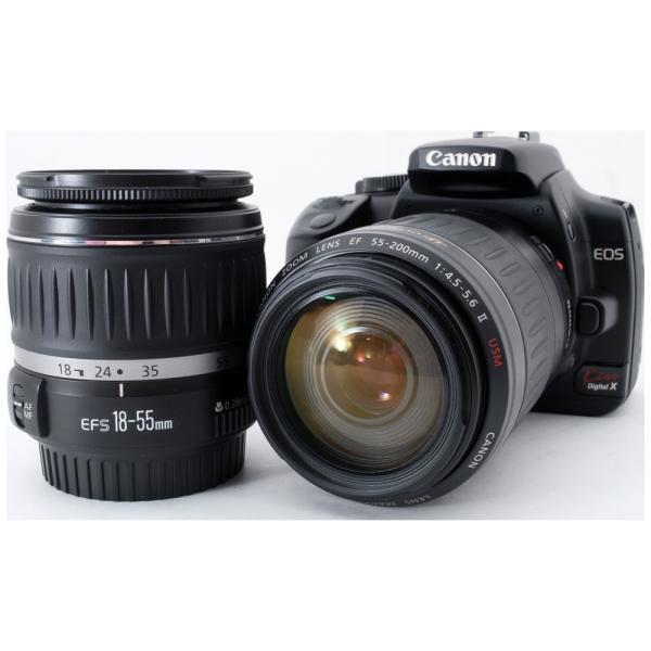 デジタル一眼レフ カメラ Canon キヤノン EOS Kiss X ダブルズームキット