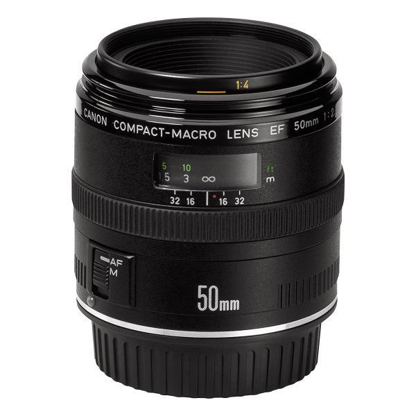 交換レンズ 中古 Canon キヤノン EF 50mm F2.5 コンパクトマクロ フルサイズ対応|cameracantik