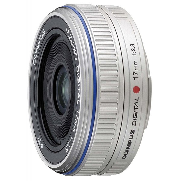 交換レンズ  Olympus オリンパス M.ZUIKO 17mm F2.8 シルバー ミラーレス一眼