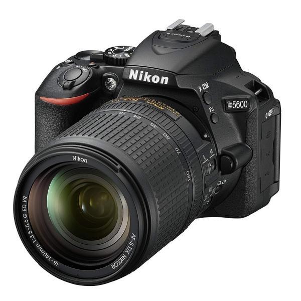 一眼レフ  Nikon ニコン D5600 ブラック 18-140mm VR レンズキット