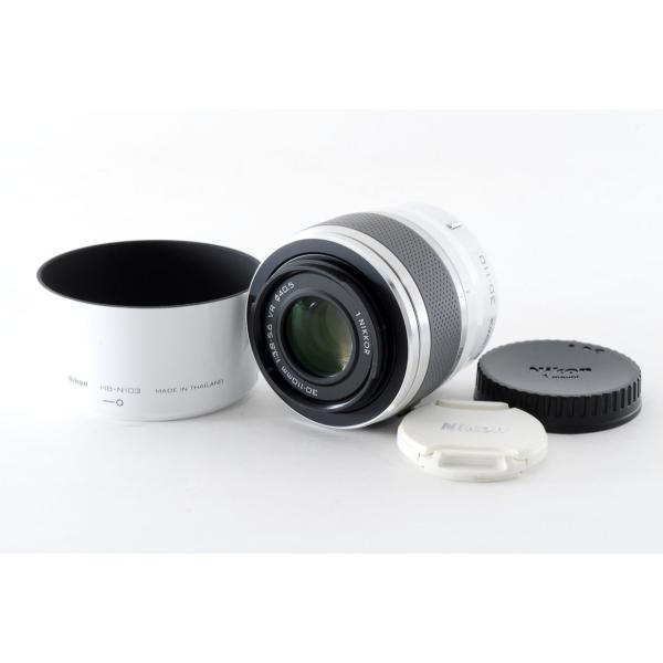 望遠レンズ 中古 Nikon ニコン 1 NIKKOR VR 30-110mm F3.8-5.6 ホワイト 手振れ補正 ミラーレス一眼対応