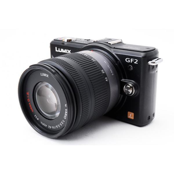 ミラーレス一眼  Wi-Fi Panasonic LUMIX ルミックス GF2 ブラック レンズキット