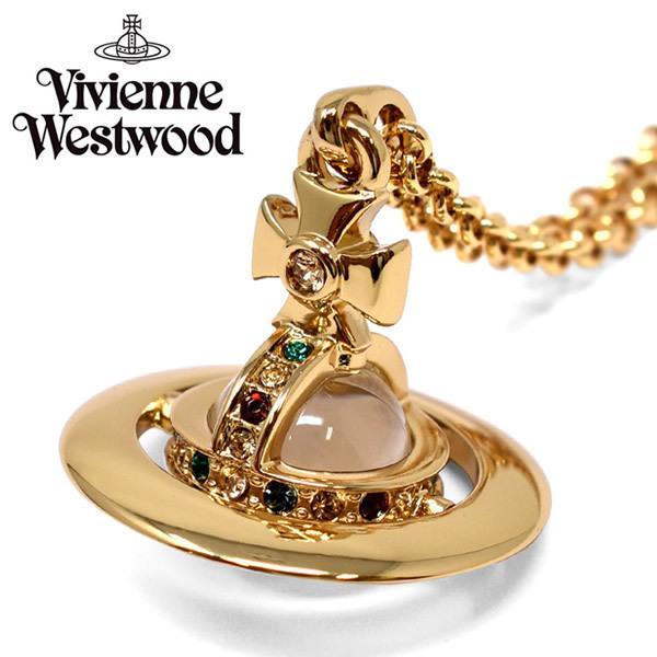 VivienneWestwood ヴィヴィアンウエストウッド ネックレス ピンクゴールド ビジュー レディース プレゼント ブランド 752014B-2