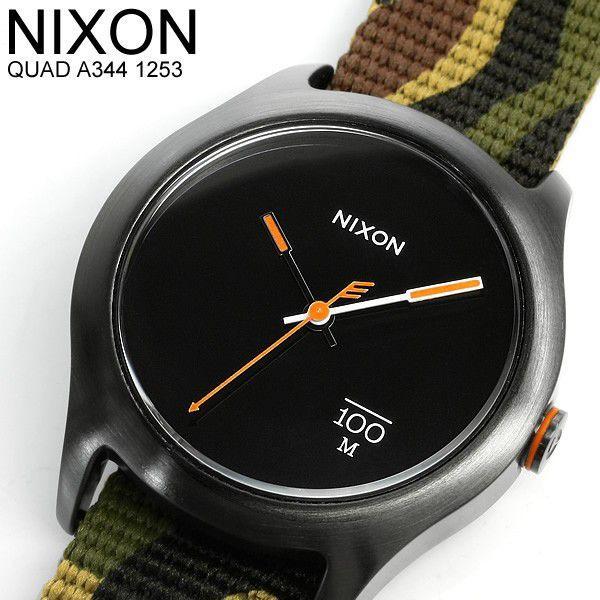 ニクソン NIXON 腕時計 メンズ QUAD A344-1253 迷彩 カモフラ ミリタリー ブランド 人気 cameron