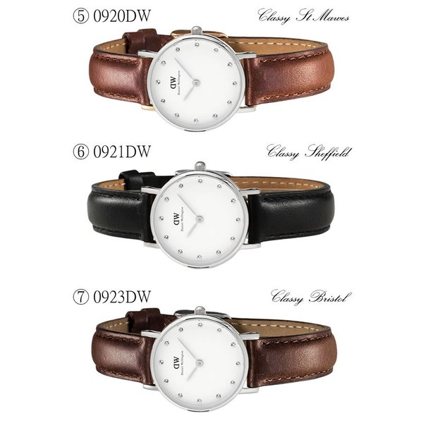 Daniel Wellington ダニエルウェリントン 腕時計 レディース 26mm 本革レザー スワロフスキー ローズゴールド Classy クラッシー 人気 ブランド|cameron|06