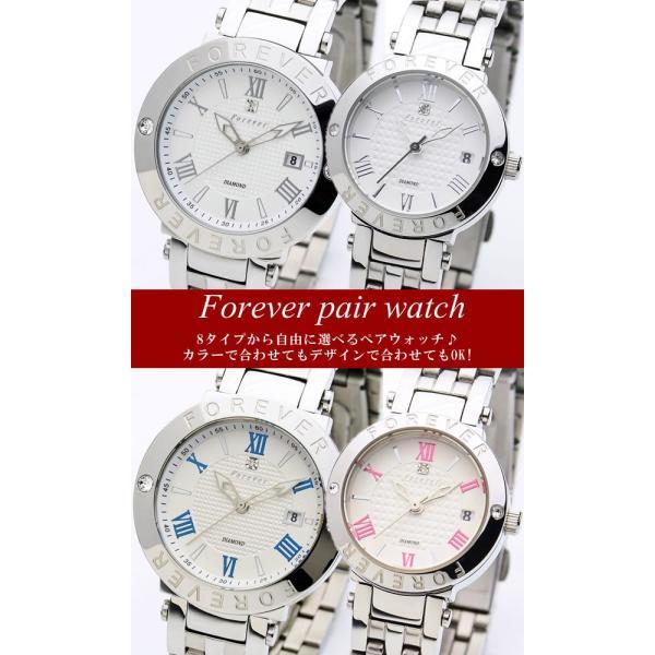 ペアウォッチ フォーエバー メンズ レディース 腕時計 10年電池 ブランド 人気 カップル|cameron|02