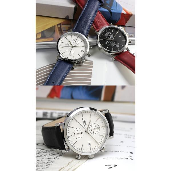 マスターウォッチ 日本製 メンズ腕時計 クロノグラフ 革ベルト クロノグラフ腕時計 メイドインジャパン 父の日 ギフト|cameron|04