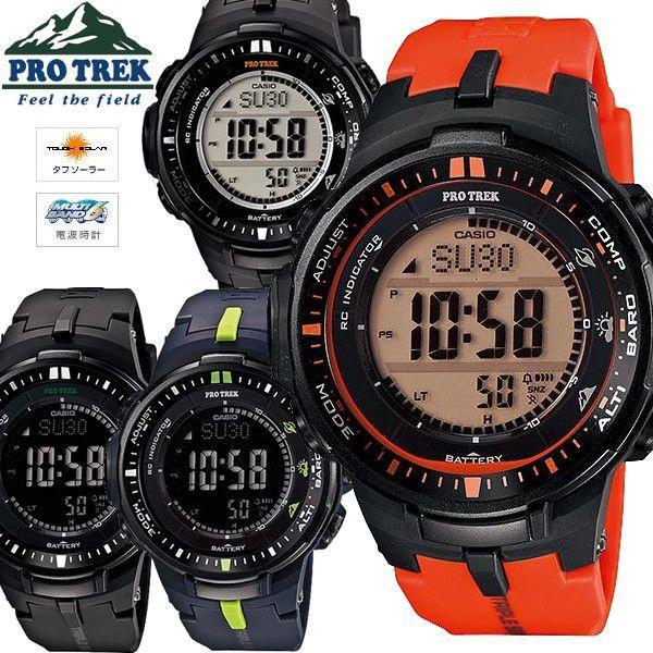 9663a22ba0 エントリーでP10倍 電波 ソーラー SOLAR プロトレック 腕時計 メンズ カシオ 電波時計 PRW- ...