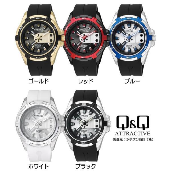シチズン Q&Q 腕時計 海外限定モデル ラバー メンズ 立体インデックス|cameron|04