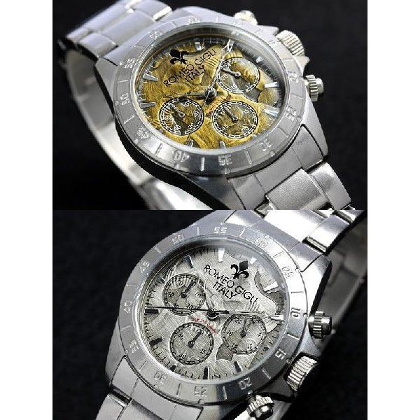 ROMEO GIGLI ロメオジリ 腕時計 メンズ クロノグラフ アンティーク ステンレス|cameron|02