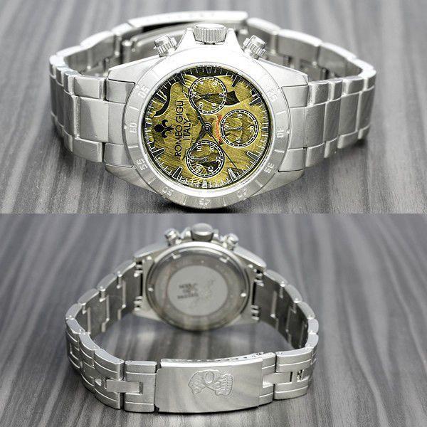 ROMEO GIGLI ロメオジリ 腕時計 メンズ クロノグラフ アンティーク ステンレス|cameron|04