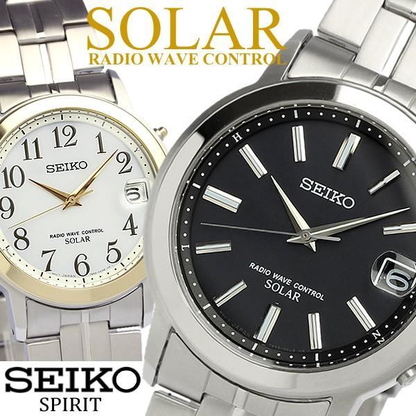 9f571062d5 エントリーでP10倍 SEIKO SPIRIT セイコー スピリット ソーラー電波腕時計 メンズ メタル 10気圧防水 ...