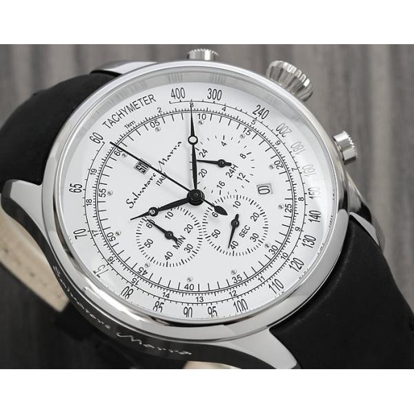 サルバトーレマーラ クロノグラフ メンズ腕時計 革ベルト クロノグラフ腕時計|cameron|02