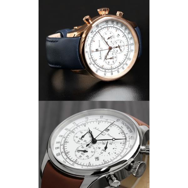 サルバトーレマーラ クロノグラフ メンズ腕時計 革ベルト クロノグラフ腕時計|cameron|03