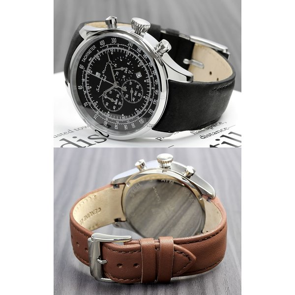 サルバトーレマーラ クロノグラフ メンズ腕時計 革ベルト クロノグラフ腕時計|cameron|04