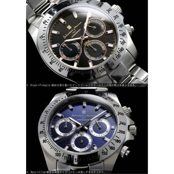 サルバトーレマーラ  クロノグラフ 腕時計 メンズ 限定モデル 10気圧防水 ブランド 人気 SM-11125 父の日 ギフト|cameron|03