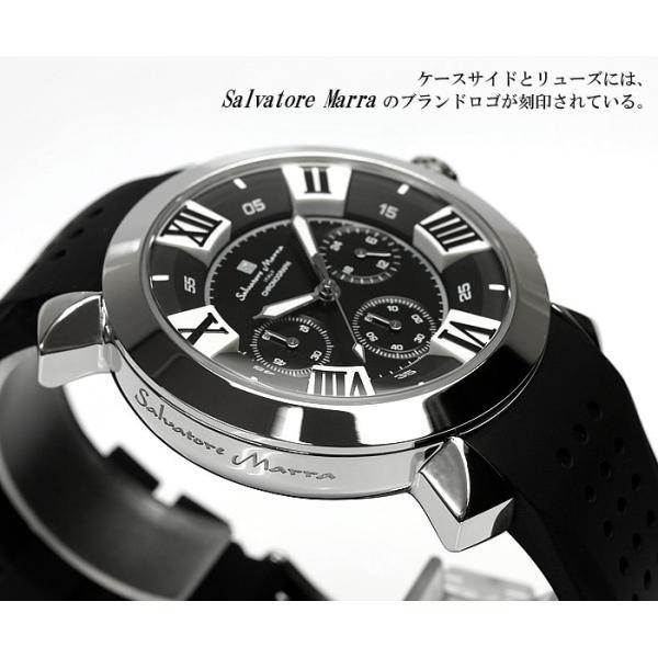 エントリーでP5倍 サルバトーレマーラ 腕時計 メンズ クロノグラフ 立体 限定モデル ラバー ブランド 流行 人気  10気圧防水 ギフト|cameron|02