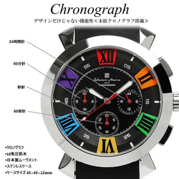 エントリーでP5倍 サルバトーレマーラ 腕時計 メンズ クロノグラフ 立体 限定モデル ラバー ブランド 流行 人気  10気圧防水 ギフト|cameron|11