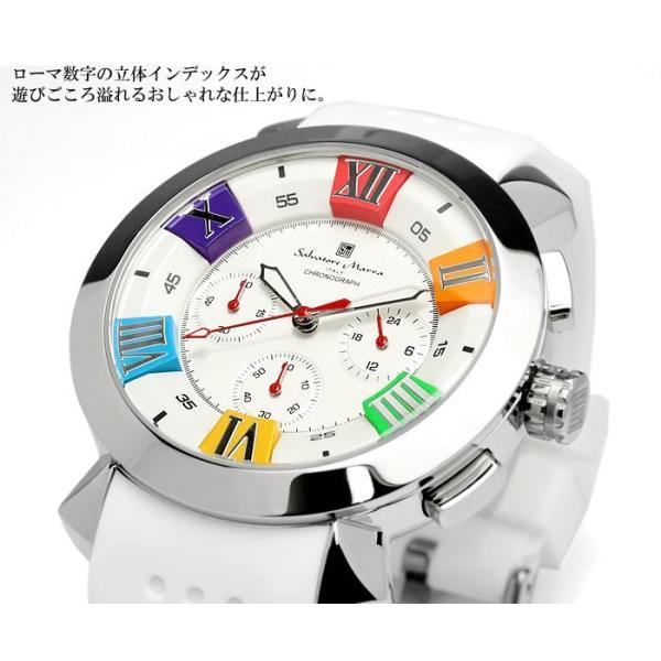 エントリーでP5倍 サルバトーレマーラ 腕時計 メンズ クロノグラフ 立体 限定モデル ラバー ブランド 流行 人気  10気圧防水 ギフト|cameron|03