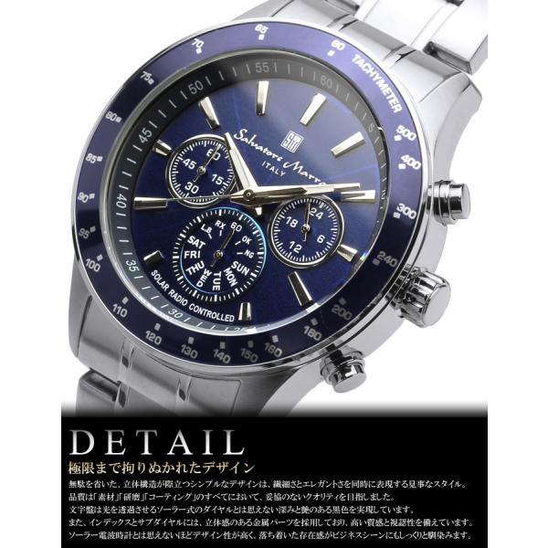 電波ソーラー 腕時計 メンズ クロノグラフ 限定モデル ブランド 人気 セール サルバトーレマーラ|cameron|05