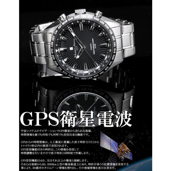 エントリーでP5倍 サルバトーレマーラ GPS 衛星電波時計 電波 腕時計 メンズ ブランド 限定モデル SM17118 cameron 02