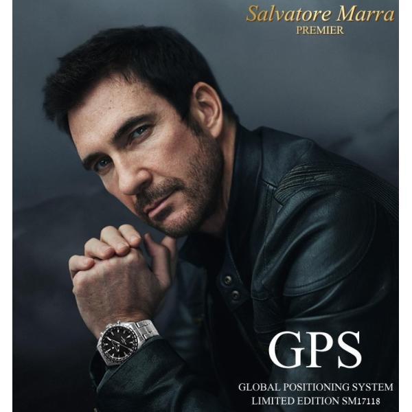 エントリーでP5倍 サルバトーレマーラ GPS 衛星電波時計 電波 腕時計 メンズ ブランド 限定モデル SM17118 cameron 12