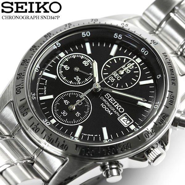 セイコー SEIKO クロノグラフ 逆輸入 腕時計 メンズ ビジネス アナログ SND367P1|cameron