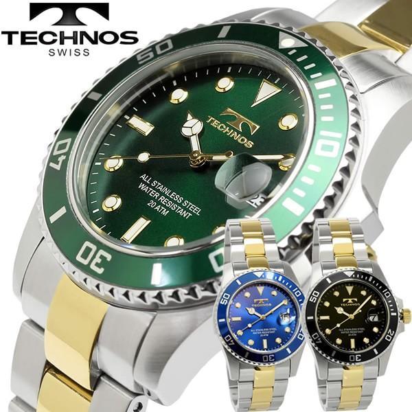 0db6cdc0cd テクノス TECHNOSンメンズ 腕時計 クオーツ 10気圧防水 日付カレンダー t2118の画像