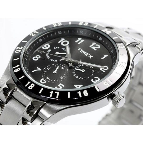 TIMEX タイメックス メンズ 腕時計 マルチカレンダー 人気 ブランド メタル ブラック T2N974|cameron|02