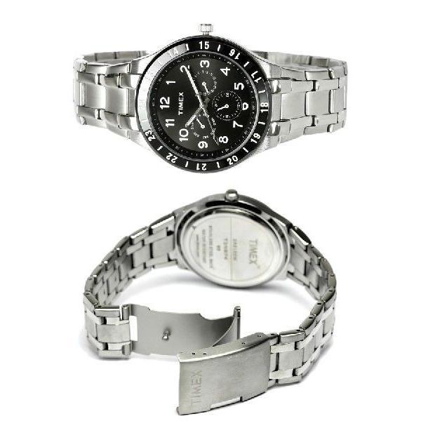 TIMEX タイメックス メンズ 腕時計 マルチカレンダー 人気 ブランド メタル ブラック T2N974|cameron|03