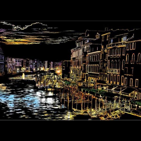 セイスクラッチ Story View ヴェネツィア(Venezia) スクラッチ塗り絵 A3|cameshouse