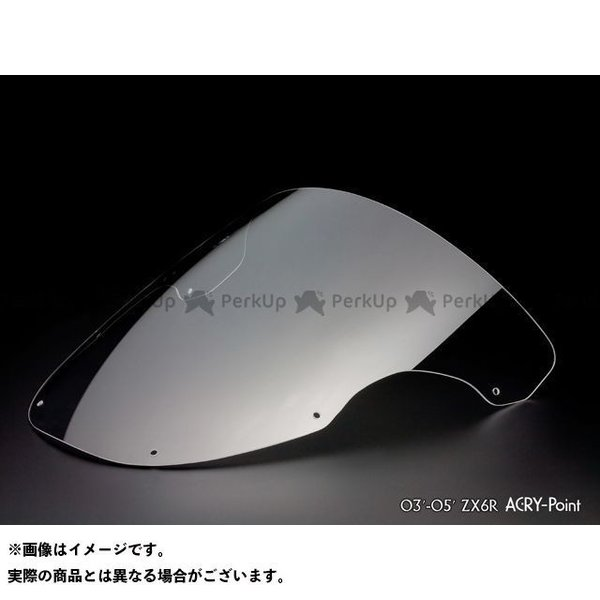 <title>アクリポイント ニンジャZX-6R 人気急上昇 ZX-6R 2003-2005用スクリーン レーシング クリア ACRY-Point</title>